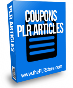 coupons plr articles