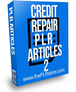 Credit Repair PLR Articles 2