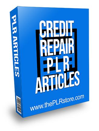 Credit Repair PLR Articles