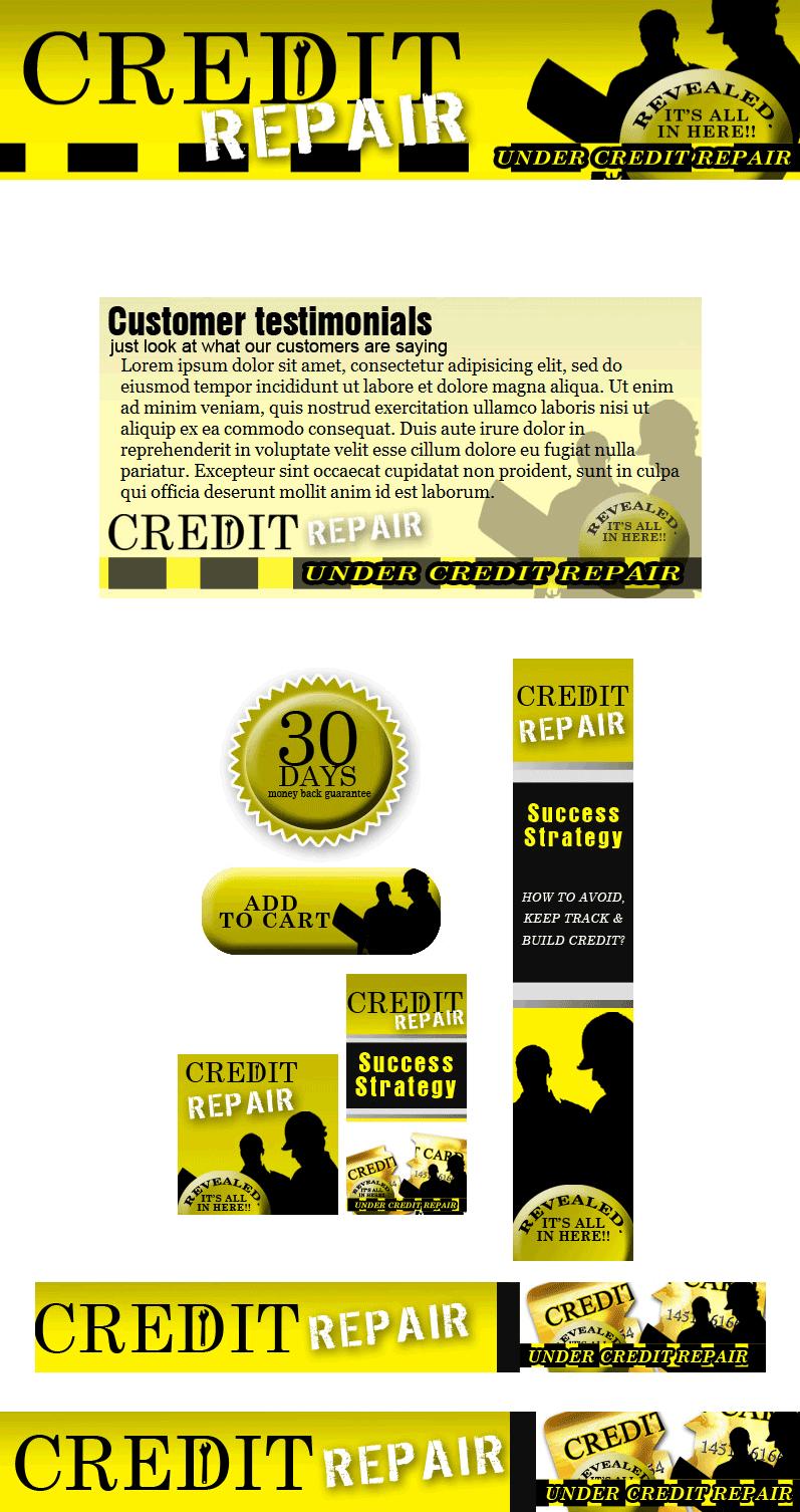 credit repair plr website template landing page. Black Bedroom Furniture Sets. Home Design Ideas