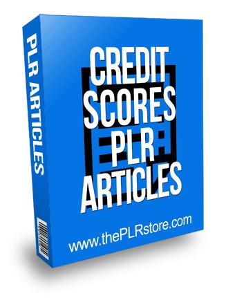 Credit Score PLR Articles