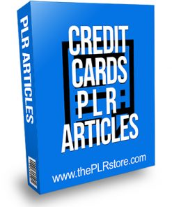 Credit Cards PLR Articles