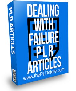 Dealing with Failure PLR Articles