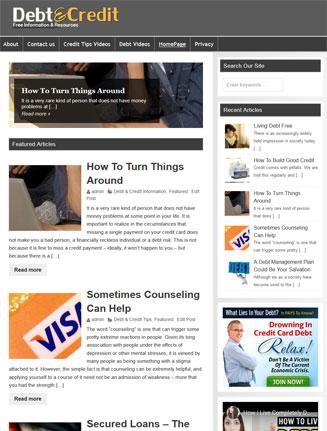 Debt and Credit PLR Website