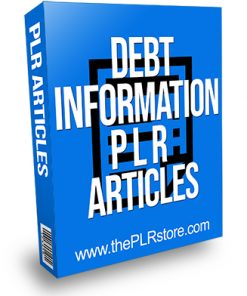 Debt Information PLR Articles