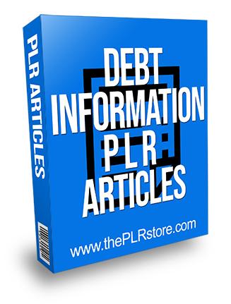 Debt Information PLR Articles