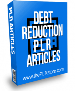 Debt Reduction PLR Articles