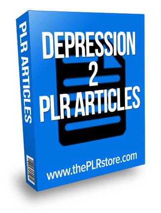 depression plr articles 2