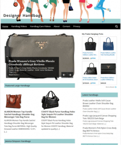 Designer Handbags PLR Amazon Store Website