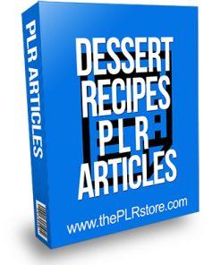 Dessert Recipes PLR Articles