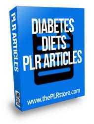 diabetes diets plr articles