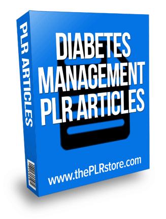 diabetes management plr articles