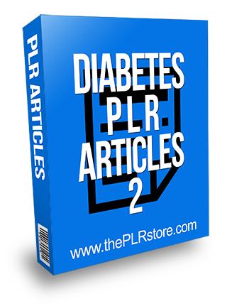 Diabetes PLR Articles 2