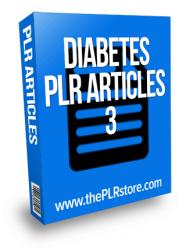 Diabetes PLR Articles 3