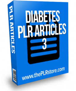 Diabetes PLR Articles 3