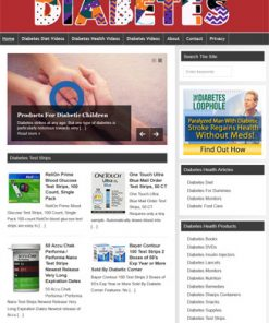 Diabetes Health PLR Website and Amazon Turnkey Store
