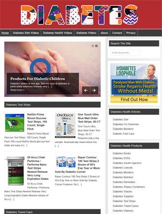Diabetes Health PLR Website and Amazon Turnkey Store
