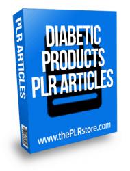 Diabetic Products PLR Articles