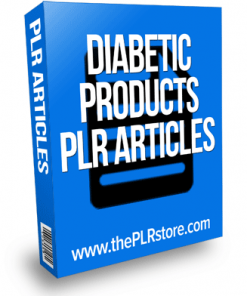 Diabetic Products PLR Articles