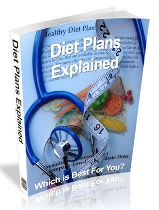 Diet Plans Explained PLR Ebook