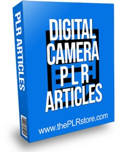 Digital Camera PLR Articles