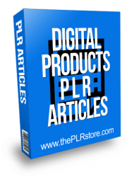 Digital Products PLR Articles