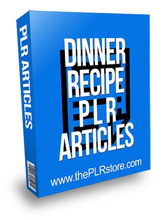 Dinner Recipe PLR Articles