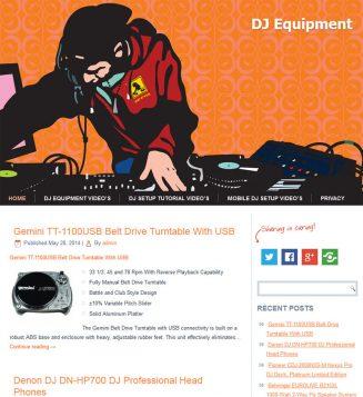 DJ Equipment PLR Amazon Turnkey Website Store dj equipment plr amazon store website cover 327x357