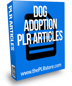 dog adoption plr articles