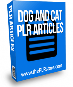 dog and cat plr articles