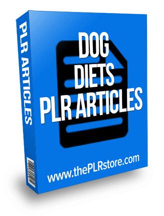 dog diets plr articles