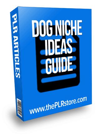 dog niche ideas plr guide