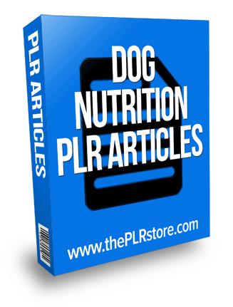 dog nutrition plr articles