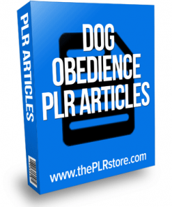 dog obedience plr articles