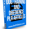dog training and obedience plr articles