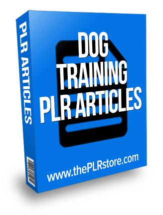 dog training plr articles