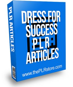 Dress for Success PLR Articles