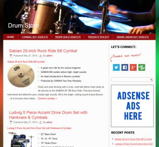 Drum PLR Amazon Store Turnkey Website drum plr store amazon turnkey website cover 327x303