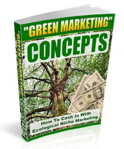 eco green niche marketing plr ebook