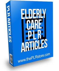 Elderly Care PLR Articles