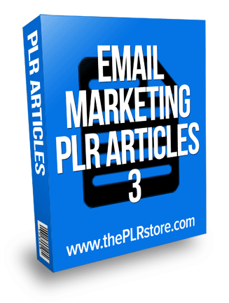 Email Marketing PLR Articles 3