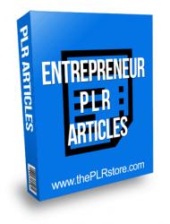 Entrepreneur PLR Articles 2