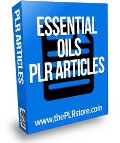 essential oils plr articles