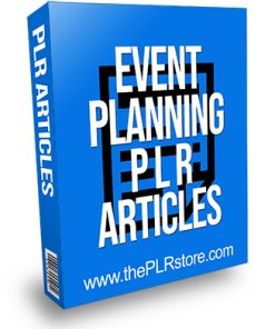 Event Planning PLR Articles