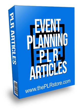 Event Planning PLR Articles