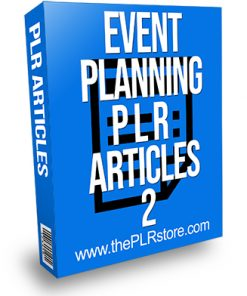 Event Planning PLR Articles 2
