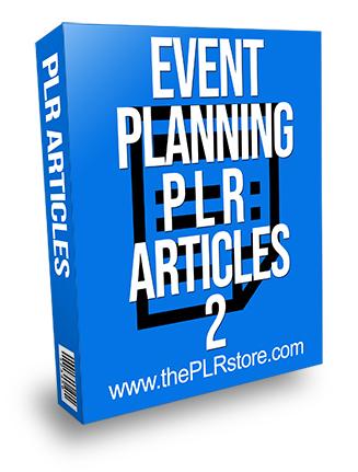Event Planning PLR Articles 2