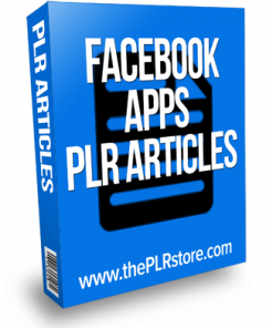 facebook applications plr articles