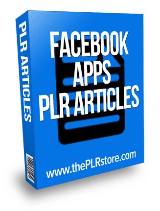 facebook applications plr articles