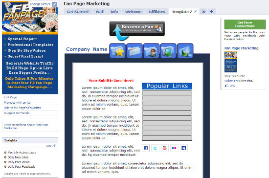 Facebook Fan Page PLR Templates - Facebook marketing templates